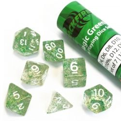 BLACKFIRE DICE - 16mm Set - Magic Green