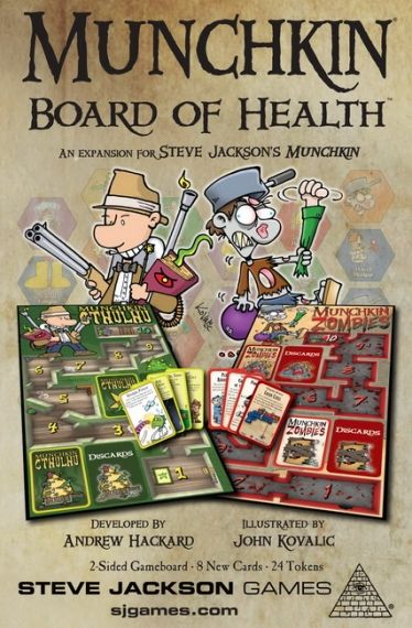 MUNCHKIN  - BOARD OF HEALTH - EXPANSION