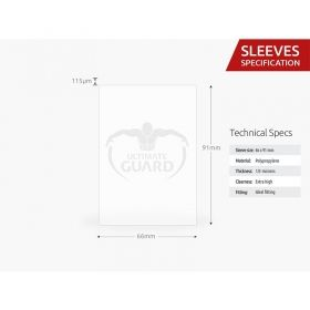 НЕМСКИ ПРОТЕКТОРИ UG - ULTIMATE GUARD SUPREME SLEEVES METALLIC 66x91 (63.5x88 LCG) - 80 БР. МЕДНИ