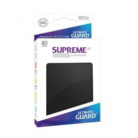 НЕМСКИ ПРОТЕКТОРИ UG - ULTIMATE GUARD SUPREME UX SLEEVES 66x91 (63.5x88 LCG) - 80 БР. ЧЕРНИ