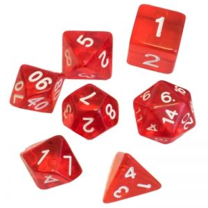 BLACKFIRE DICE - 16mm Set - Crystal Red