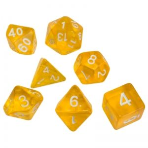 BLACKFIRE DICE - 16mm Set - Crystal Yellow