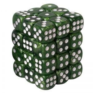 BLACKFIRE DICE - 12mm 36 Piece d6 Set - Marbled Green