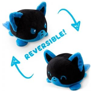 UNSTABLE UNICORNS REVERSIBLE PLUSHIE - FOX (BLACK AND BLUE)