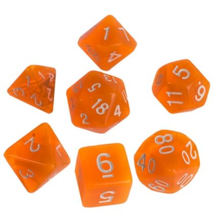 BLACKFIRE DICE - 16mm Set - Crystal Orange