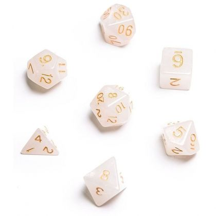 BLACKFIRE DICE - 16mm Set - Frozen White