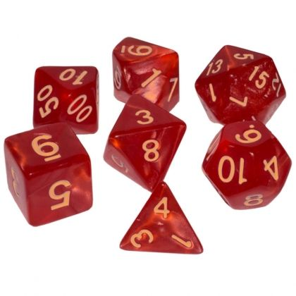 BLACKFIRE DICE - 16mm Set - Ruby Red
