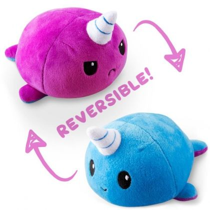 UNSTABLE UNICORNS REVERSIBLE PLUSHIE - NARWHAL (BLUE AND PURPLE)