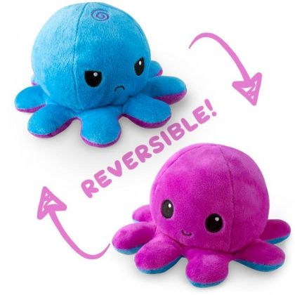 UNSTABLE UNICORNS REVERSIBLE PLUSHIE - OCTOPUS (BLUE AND PURPLE)