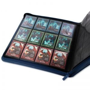 КЛАСЬОР ЗА КАРТИ - ULTIMATE GUARD ZIPFOLIO 12-POCKET 480 CARDS (за LCG, TCG и др) - СИН