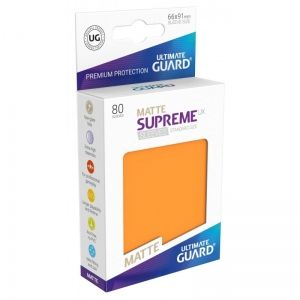 НЕМСКИ ПРОТЕКТОРИ UG - ULTIMATE GUARD SUPREME UX SLEEVES MATTE 66x91 (63.5x88 LCG) - 80 БР. ОРАНЖЕВИ