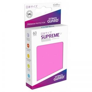 НЕМСКИ ПРОТЕКТОРИ UG - ULTIMATE GUARD SUPREME UX SLEEVES JAPANESE 62x89 - 60 БР. РОЗОВИ