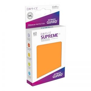 НЕМСКИ ПРОТЕКТОРИ UG - ULTIMATE GUARD SUPREME UX SLEEVES JAPANESE 62x89 - 60 БР. ОРАНЖЕВИ