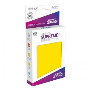 НЕМСКИ ПРОТЕКТОРИ UG - ULTIMATE GUARD SUPREME UX SLEEVES JAPANESE 62x89 - 60 БР. ЖЪЛТИ