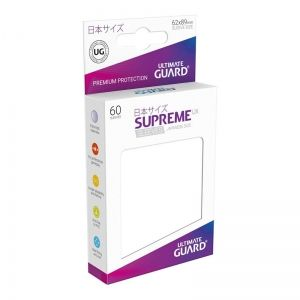 НЕМСКИ ПРОТЕКТОРИ UG - ULTIMATE GUARD SUPREME UX SLEEVES JAPANESE 62x89 - 60 БР. БЕЛИ