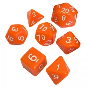 BLACKFIRE DICE - 16mm Set - Orange