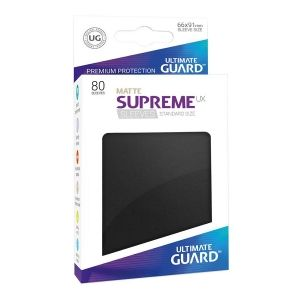НЕМСКИ ПРОТЕКТОРИ UG - ULTIMATE GUARD SUPREME UX SLEEVES MATTE 66x91 (63.5x88 LCG) - 80 БР. ЧЕРНИ МАТ