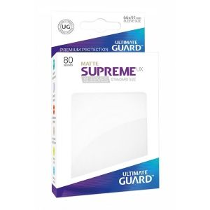 НЕМСКИ ПРОТЕКТОРИ UG - ULTIMATE GUARD SUPREME UX SLEEVES MATTE 66x91 (63.5x88 LCG) - 80 БР. БЕЛИ МАТ