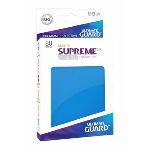 НЕМСКИ ПРОТЕКТОРИ UG - ULTIMATE GUARD SUPREME UX SLEEVES MATTE 66x91 (63.5x88 LCG) - 80 БР. СИНИ МАТ