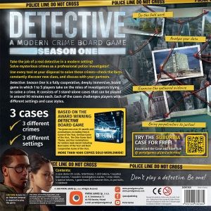 DETECTIVE: DETECTIVE: A MODERN CRIME BOARD GAME - SEASON ONE