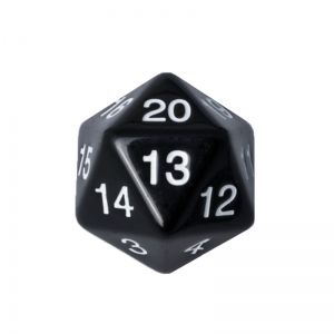 BLACKFIRE DICE - 55mm D20 Countdown