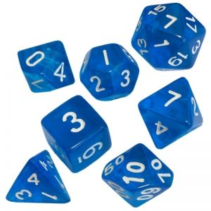 BLACKFIRE DICE - 16mm Set - Crystal Blue