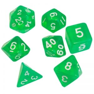BLACKFIRE DICE - 16mm Set - Crystal Green