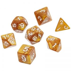 BLACKFIRE DICE - 16mm Set - Dwarven Gold