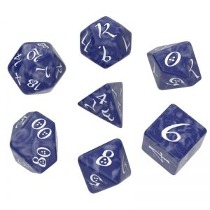 Q WORKSHOP CLASSIC RPG DICE SET - COBALT/WHITE