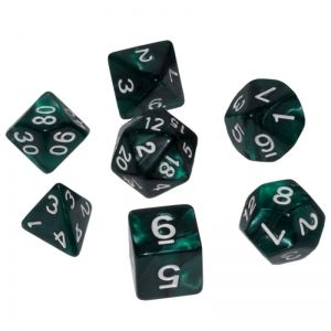 BLACKFIRE DICE - 16mm Set - Mystic Green