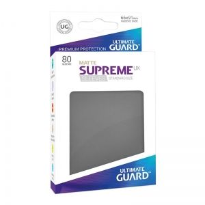 НЕМСКИ ПРОТЕКТОРИ UG - ULTIMATE GUARD SUPREME UX SLEEVES MATTE 66x91 (63.5x88 LCG) - 80 БР. СИВИ МАТ